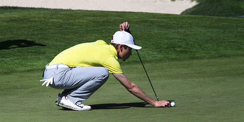Golf Player on the Putting Green