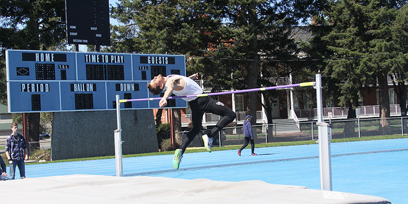 Bigfoot Track and Field athlete mid high jump