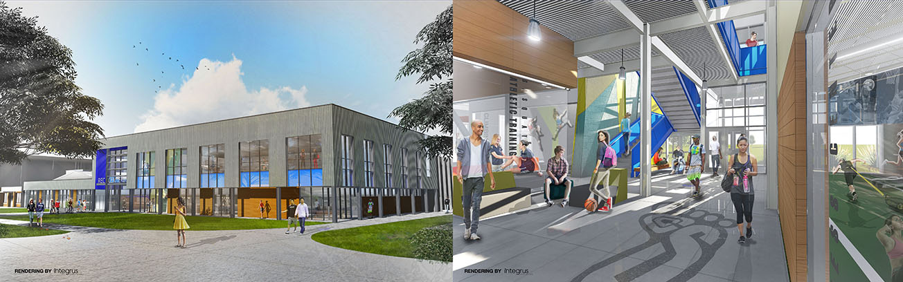 Architectural Rendering of the SFCC Gym