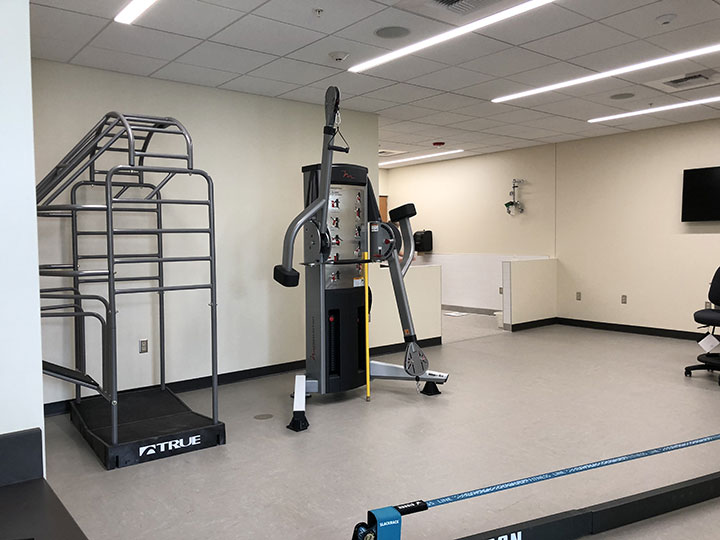 Athletic Training Room inside view