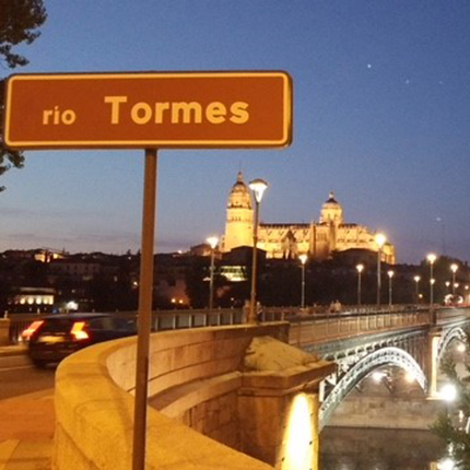 Rio Tormes street sign