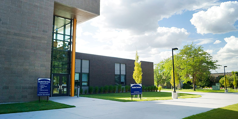 Student services building at SS.
