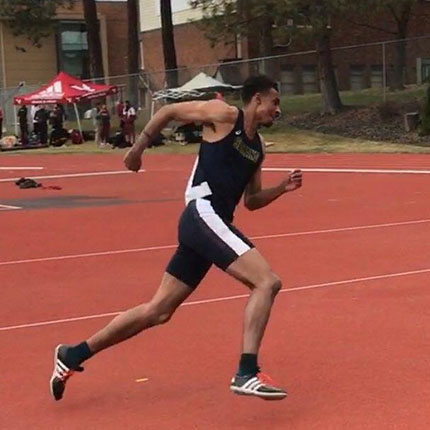 CCS track athletic Jabriel Davis at Whitworth Invitational in March 2021