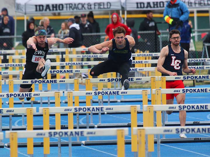 Men's Track and Field hurdles