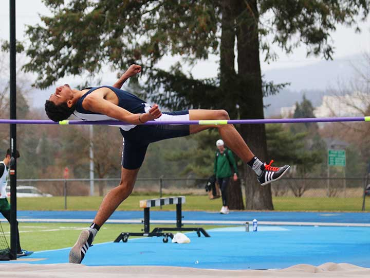 Men's track and field high jump