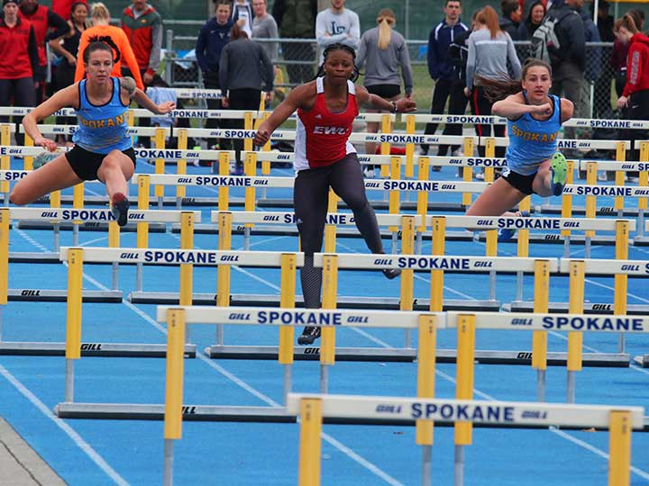 Women's track and field hurdles